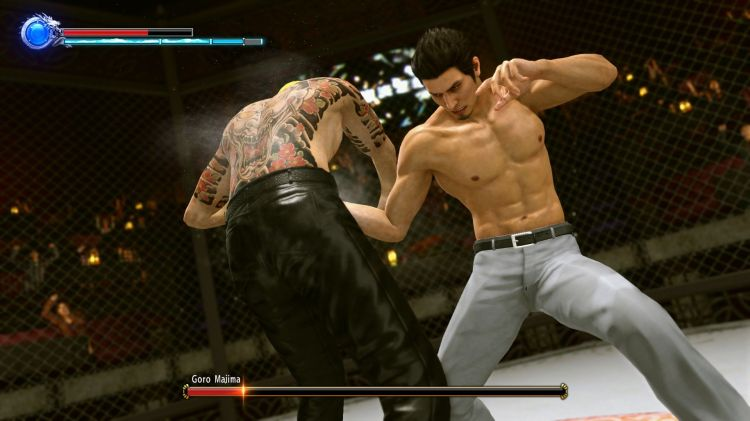 yakuza-kiwami-2-review-cage-fight